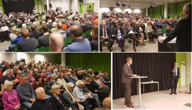 Säkerhetspolischefen Anders Thornberg föreläser i Halmstad. Foto: Lars Björk