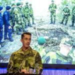 ÖB, general Micael Bydén informerade om läget i Försvarsmakten. Foto: Ulf Palm.