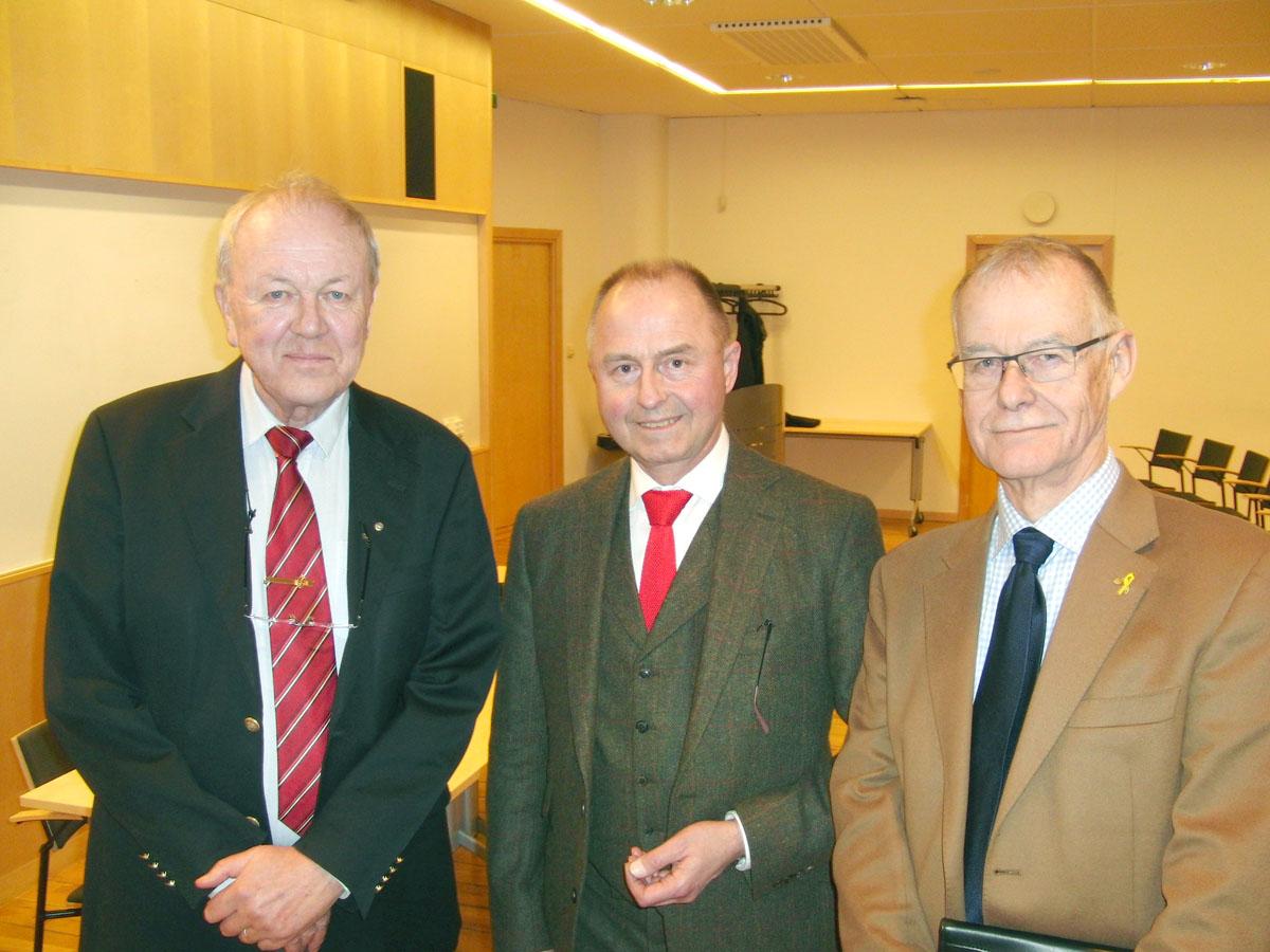 Vid försvarsmötet i Malmö deltog AFF-ordföranden Ola Fischer, forskningsledare Robert Dalsjö vid FOI Försvarsanalys och nye styrelseledamoten i AFF Skåne, Johan von Horn.