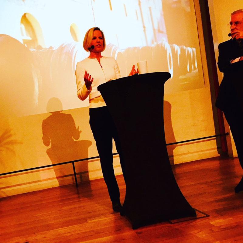 Allmänna försvarsföreningens generalsekreterare Anna Wieslander på Finlandsdagen på Armémuseum i Stockholm.
