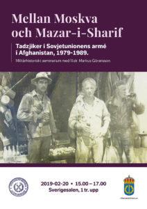 Mellan Moskva och Mazar-i-Sharif, FHS 20 febr 2019, 15-17