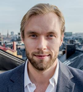 Oscar Jonsson, vikarierande chef för Frivärld under 2019.
