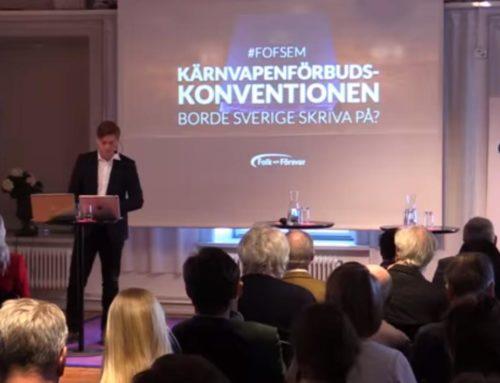 Kärnvapenförbudskonventionen – borde Sverige skriva på?
