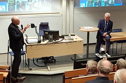 Sverker Göransson i Hörsalen vid Linnéuniversitetet i Kalmar 28 mars 2019.