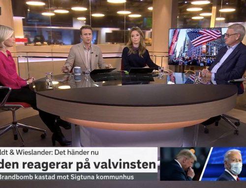 GS Anna Wieslander i SVT:s Morgonstudion om USA