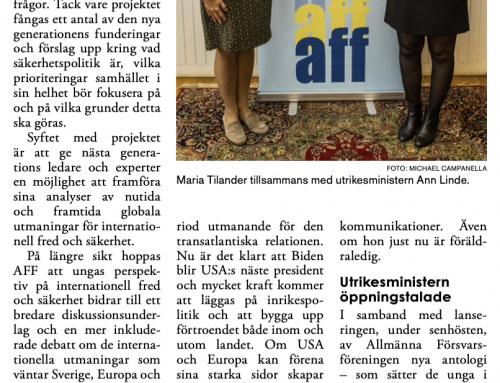Maria Tilander i Torslanda-Öckerötidningen