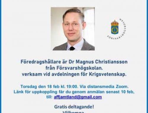 """Webbinarium 18 februari om """"Nordisk-baltisk säkerhet och svensk försvarspolitik"""""""